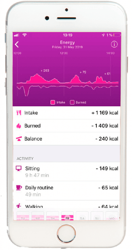 HEALBE App screen
