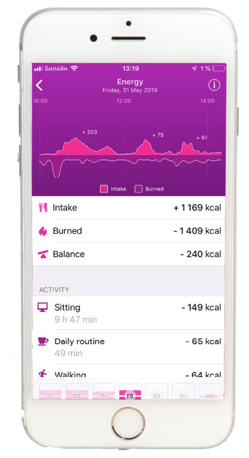 healbe app interface